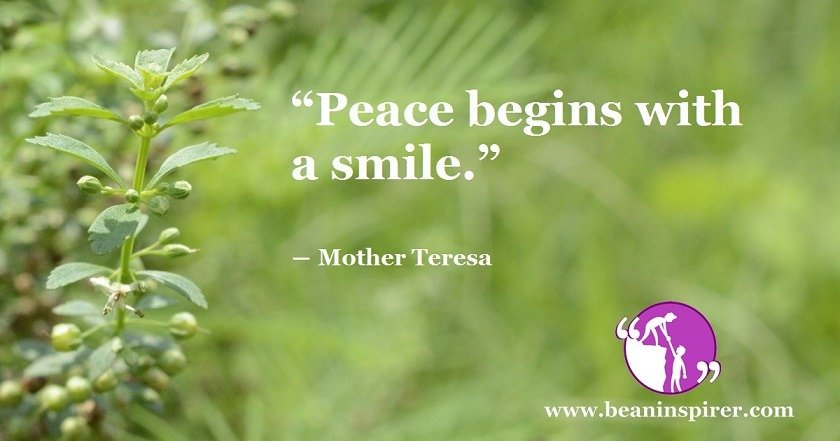 Smile Is The Reflection Of Inner Peace