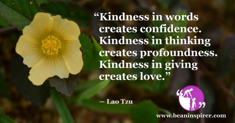 Be Kind and Gain Confidence