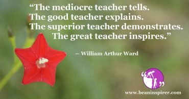 Importance Of A Teacher For Inspiration