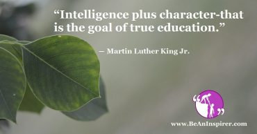 Character Building is Vital for Education