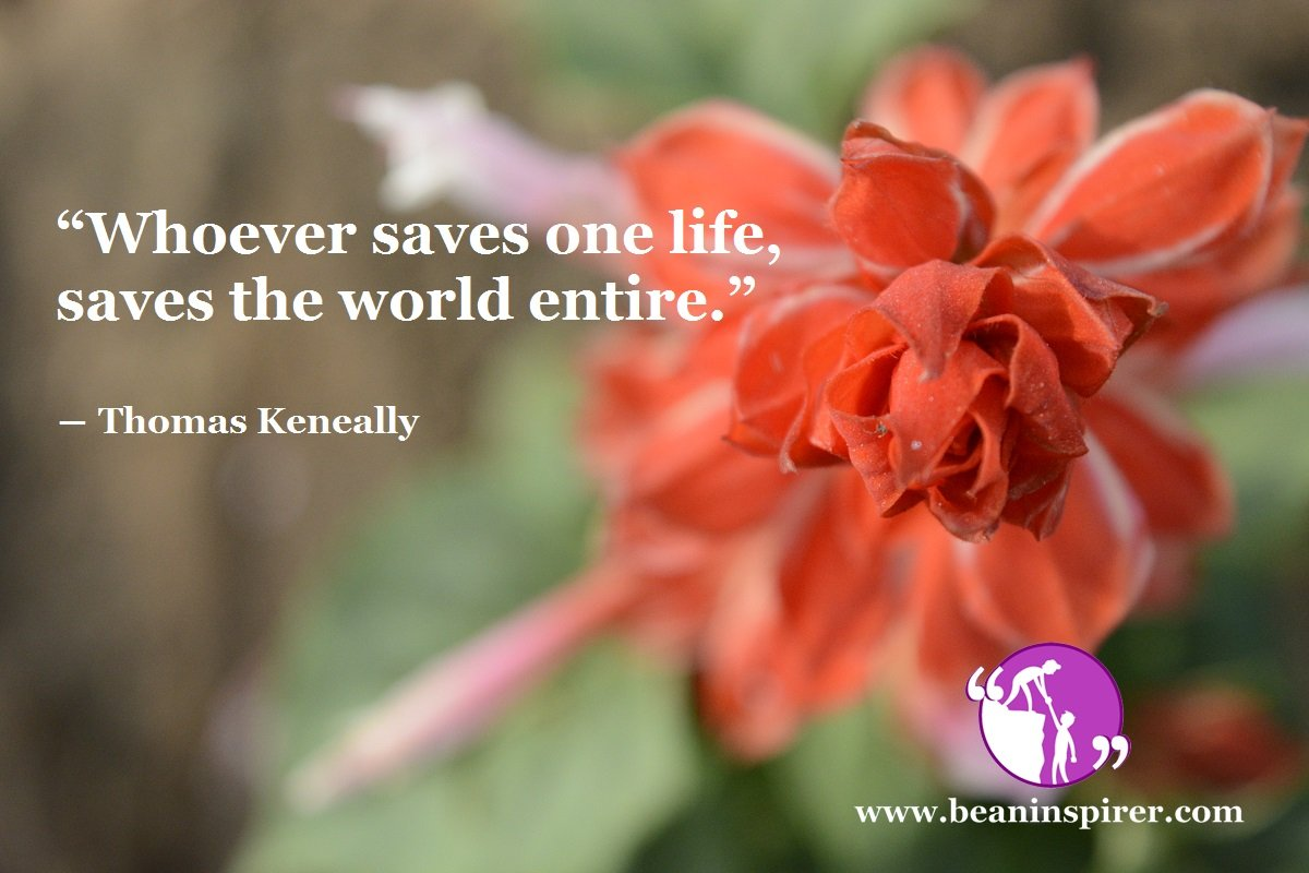 One Life Can Make A Difference To Humanity
