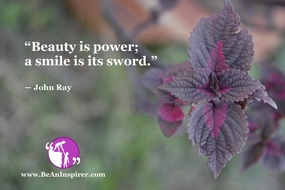 Beauty-is-power-a-smile-is-its-sword-John-Ray-Be-An-Inspirer