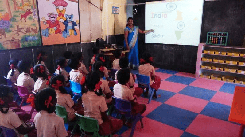 Interactive-digital-smartboard-in-Panchayat-Union-Primary-School-Be-An-Inspirer