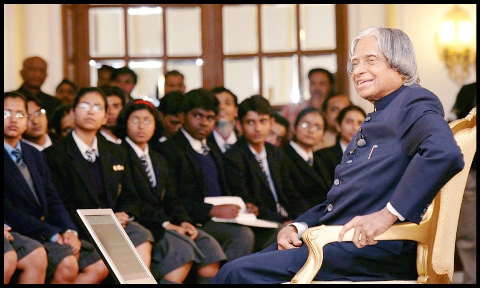 Dr. A. P. J. Abdul Kalam with students