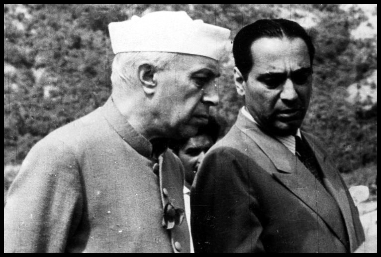 Homi Jehangir Bhabha with the First Prime Minister of India, Jawaharlal Nehru