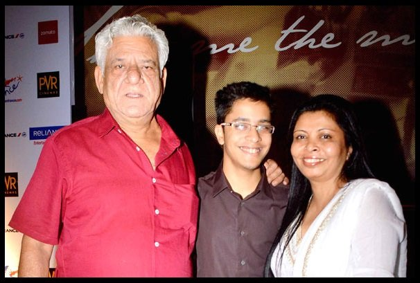 Om-Prakash-Puri-with-his-family-Ishaan-Puri-Son-and-Nandita-Puri-wife-Be-An-Inspirer
