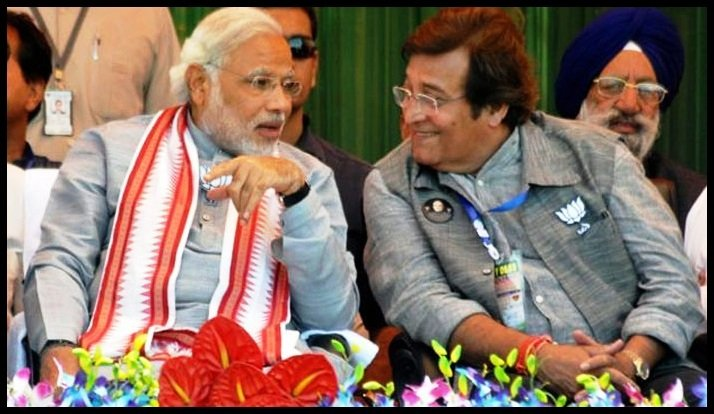 Prime-Minster-Narendra-Modi-with-Vinod-Khanna-Be-An-Inspirer