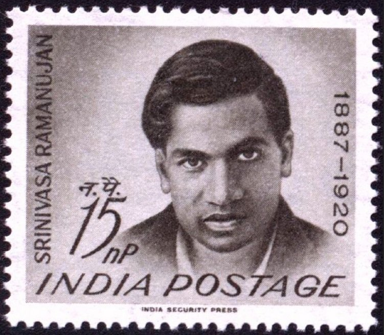 Stamp released in honour of the great Mathematician Srinivasa Ramanujan