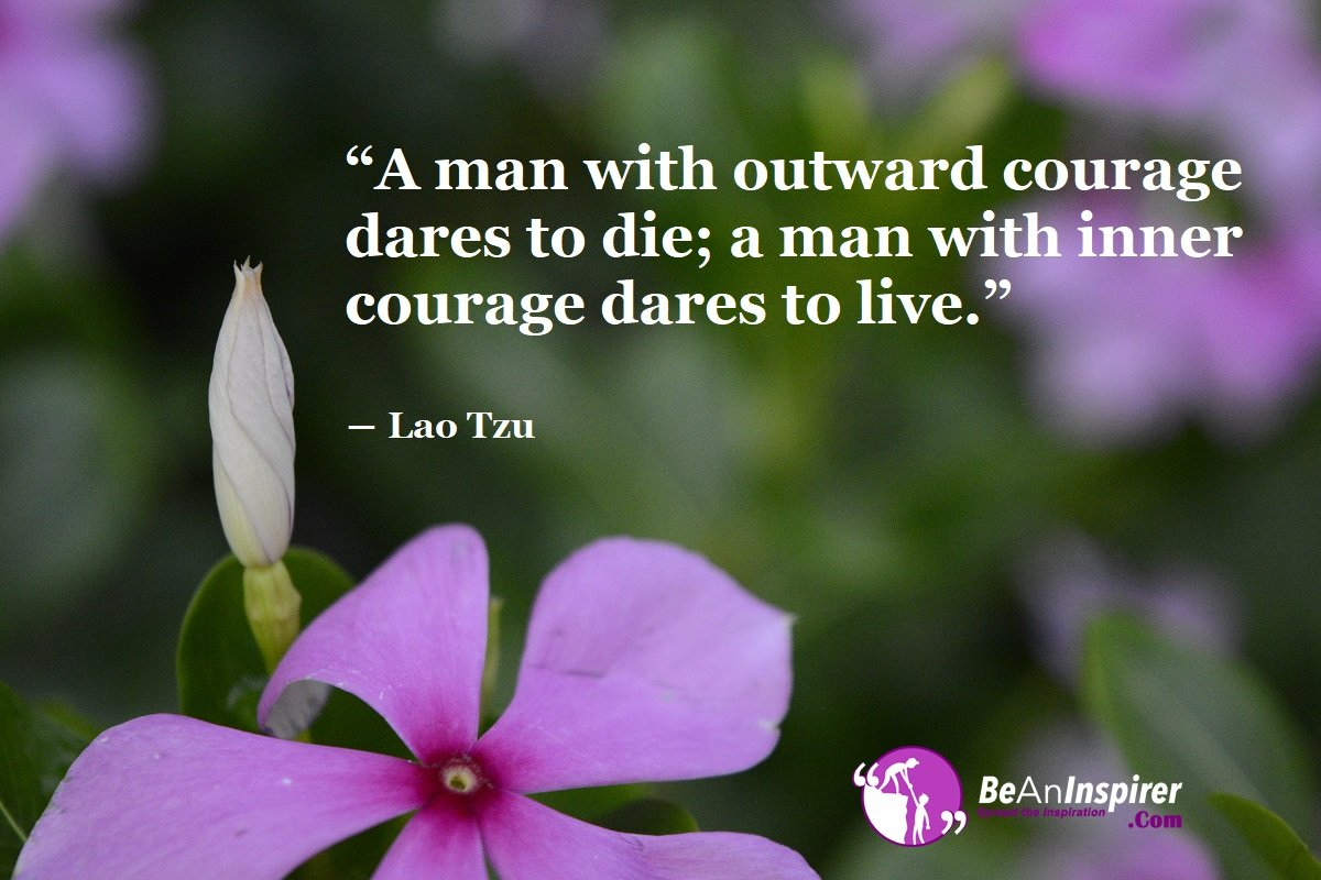 A Person Is Only Considered Courageous If He Lives A Difficult Life To The Best He Can!
