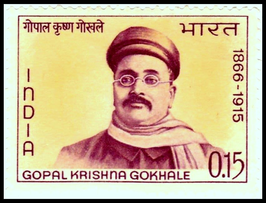Post-stamp-released-to-commemorate-the-100-th-birth-anniversary-of-Gopal-Krishna-Gokhale-in-1966-by-the-Government-of-India-Be-An-Inspirer