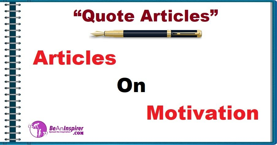 Articles on Motivation [Quote Articles]