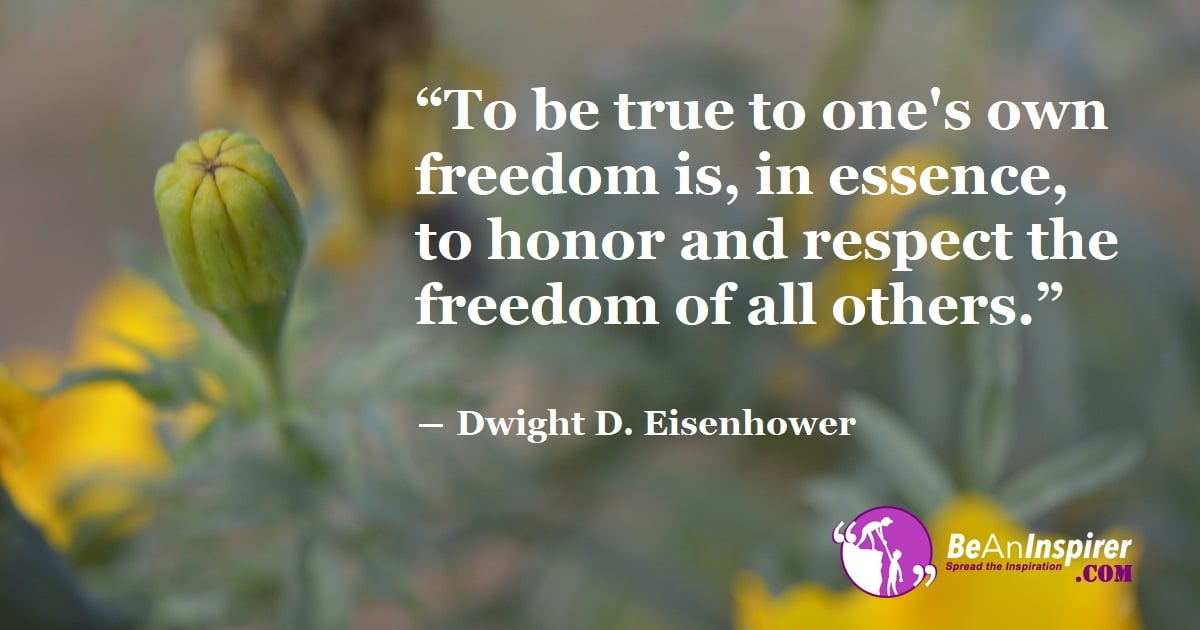 Give Freedom To Get Freedom From Others