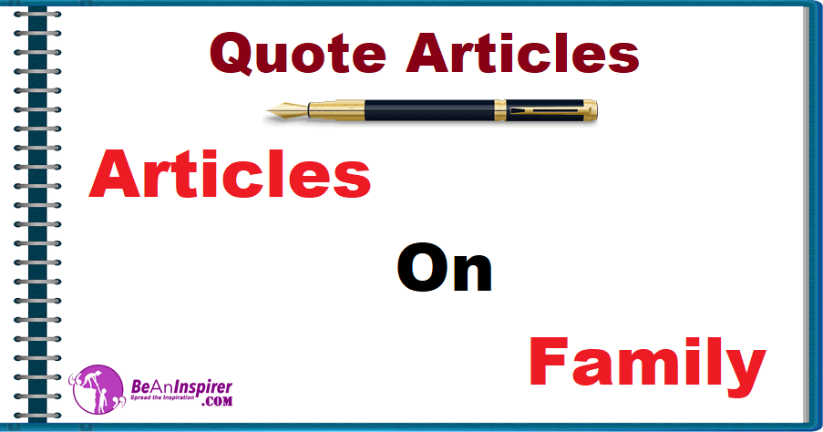 Articles on Family [Quote Articles]
