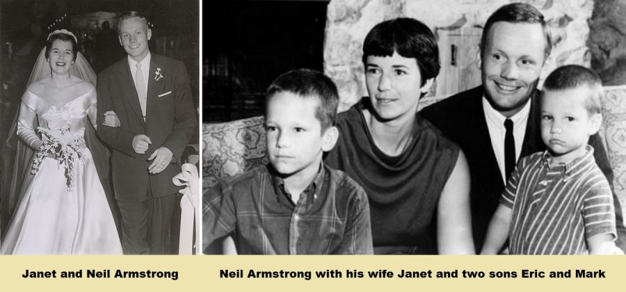 Neil Armstrong with his family