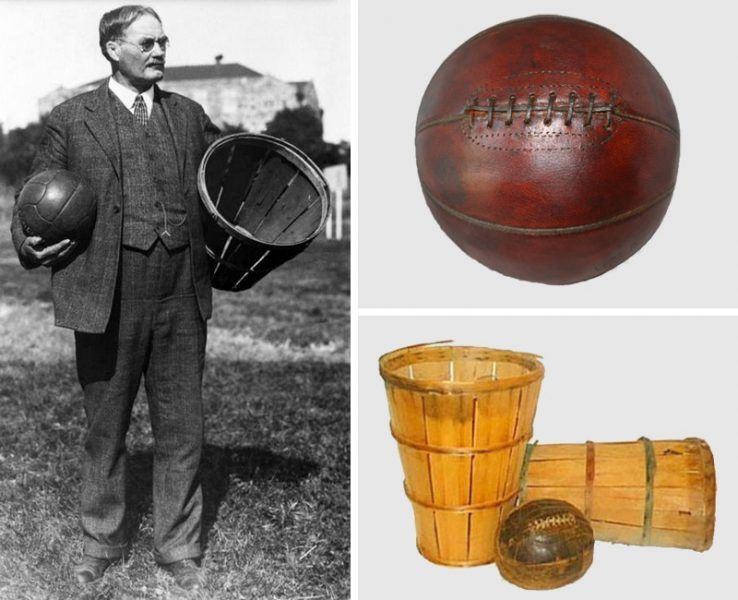 James Naismith – First Basketball and Peach Baskets