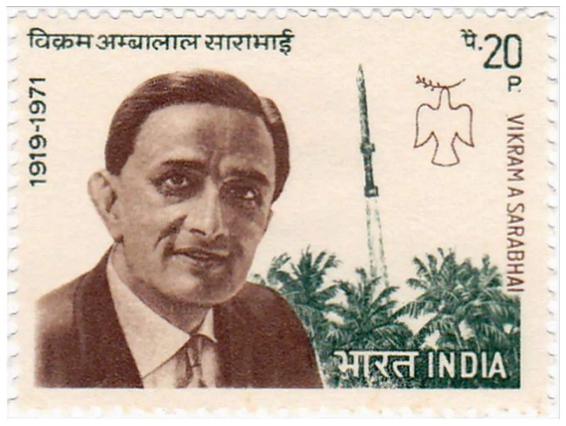 Dr. Vikram Sarabhai | Achievements and Honors - Postal Stamp issued by the Indian Postal Department