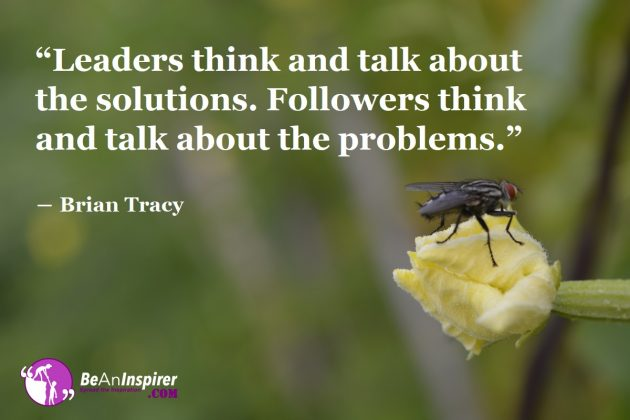 Leaders Come Up with Problem Solutions while Followers Emphasize Problems